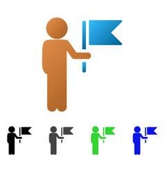 child commander flat gradient icon vector image