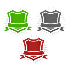 classical shield set vector image