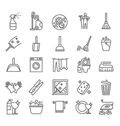 cleaning service outline clean symbols vector image