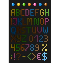 Colorful beaded english alphabet vector image