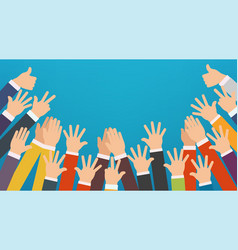 Concept of raised up hands vector