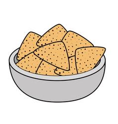 Delicious nachos mexican food vector