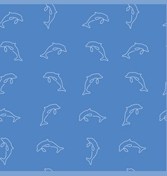 dolphin seamless pattern color vector image