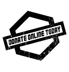 Donate online today rubber stamp vector