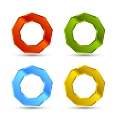 enneagon shapes set vector image