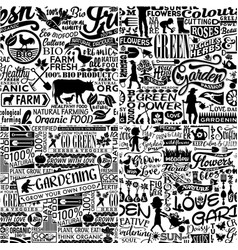 farm fresh organic food four different wallpaper vector image