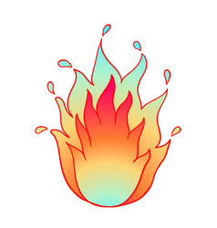 fire flame icon on white vector image
