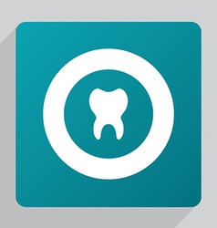 Flat tooth icon vector