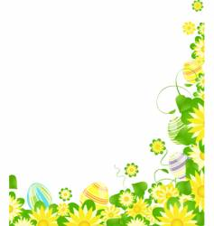 floral Easter border vector image
