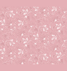 Flower seamless pattern element elegant vector