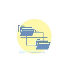 folder file management move copy glyph icon vector image