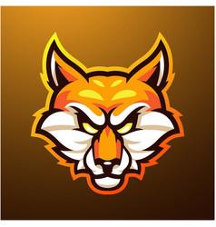 foxes head mascot logo vector image