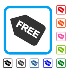 Free sticker framed icon vector