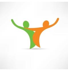 Friendly negotiations icon vector