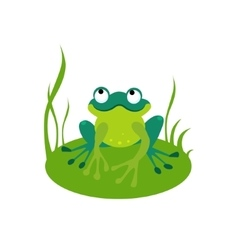 Green Cartoon Frog vector