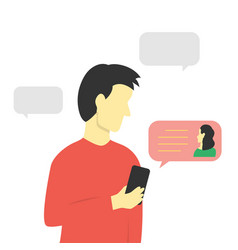 guy received a message on his smartphone vector image