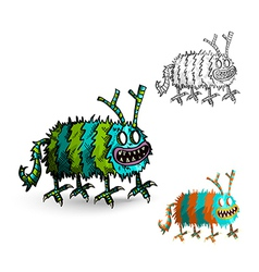 Halloween Monsters spooky isolated creatures set vector image