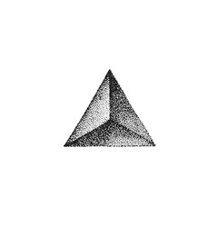 hand drawn dotart blackwork vector image