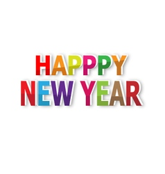 Happy new year text background vector image