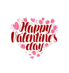 Happy valentine s day greeting card or banner vector