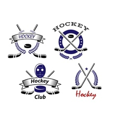 Hockey Club and team emblems vector image