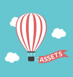 hot air balloon assets vector image