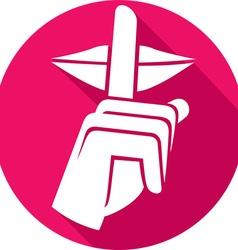 Hush hush icon vector