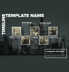 infographic timeline template with photos vector image