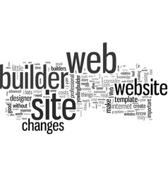 Is a web site builder right for you vector