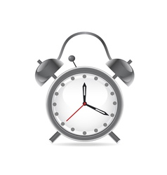 isolated alarm clock on white background vector image