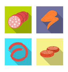 isolated object of meat and ham logo collection vector image