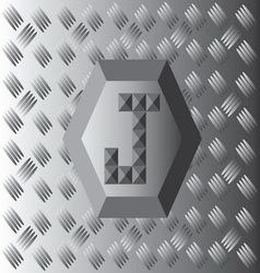 J Text Aluminium Wallpaper vector