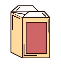 Juice carton box icon vector
