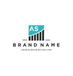 Letter as chart financial logo design vector