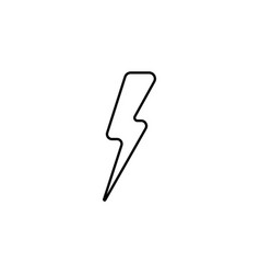 lightning line icon black vector image