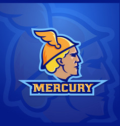 Mercury abstract team logo emblem or sign vector