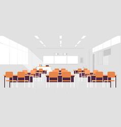 Modern classroom interior empty no people school vector