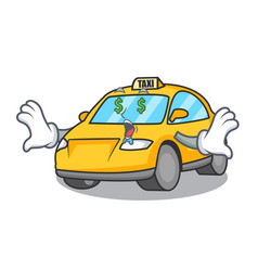 Money eye taxi character mascot style vector
