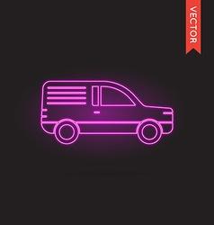 Neon Car Icon Car Icon Car Icon Object Car Icon vector image