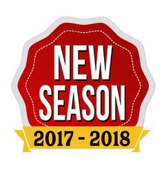 New season 2017-2018 label or sticker vector