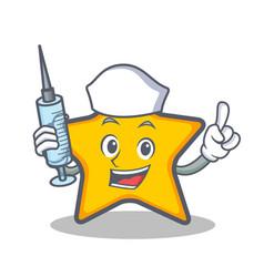 Nurse star character cartoon style vector