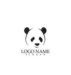 Panda logo and symbols template icons app vector