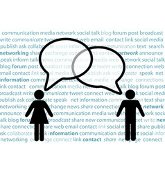 people symbol share social network talk bubbles vector image vector image