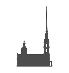 Peter and paul fortress in saint petersburg vector