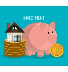 Real estate business investment vector image