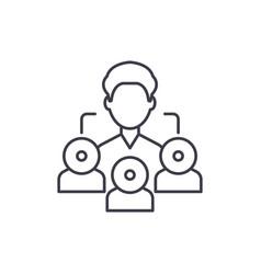 referral marketing line icon concept referral vector image