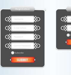 Registration web form vector