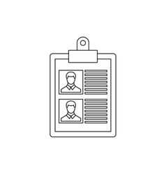 Resume of two candidates icon outline style vector
