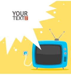 retro television card Flat Design vector image