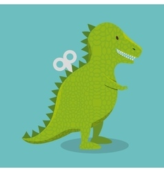 Rex dinosaur toy icon vector